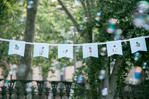 Personalized Belle & Boo banner for a birthday party by Hip Hip Hurray