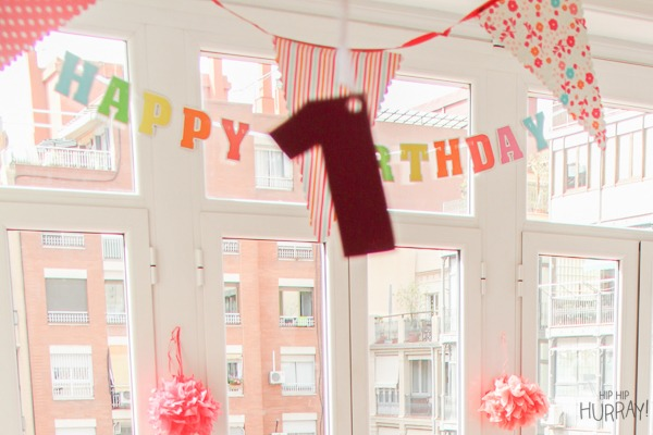 1st birthday party decoration by Hip Hip Hurray Barcelona