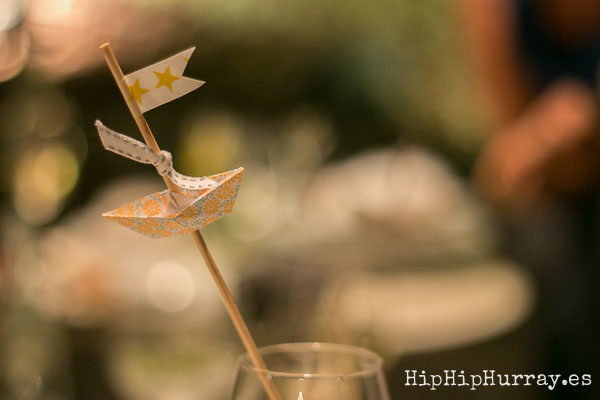 Baby Shower Table Decoration Boats by Hip Hip Hurray Barcelona