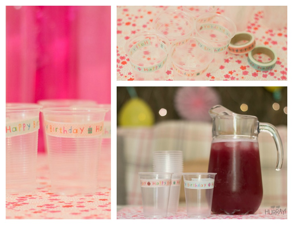 An easy way to decorate your party cups by Hip Hip Hurray Barcelona